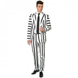 Traje Striped Black and White Suitmeister Opposuit - Imagen 1