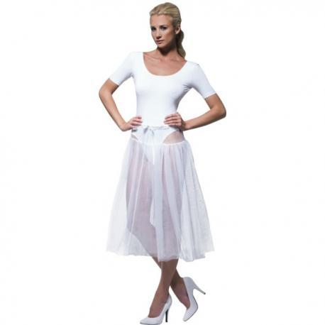 Tutú blanco ajustable para mujer - Imagen 1