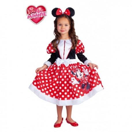 Disfraz de Minnie Mouse Roja Winter - Imagen 1