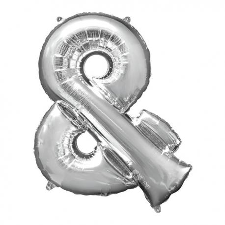 Globo ampersand plateado - Imagen 1