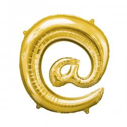 Globo arroba dorado - Imagen 1