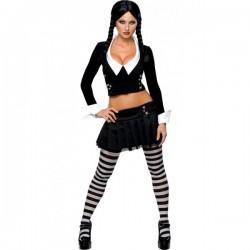 Disfraz de Miércoles Familia Addams sexy - Imagen 1