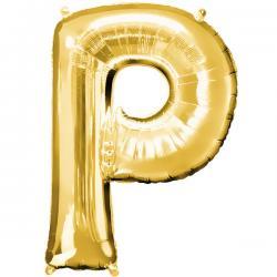 Globo letra P dorado - Imagen 1