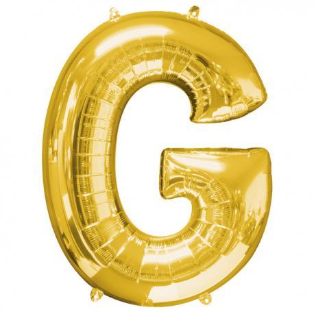 Globo letra G dorado - Imagen 1