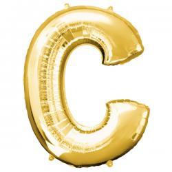Globo letra C dorado - Imagen 1