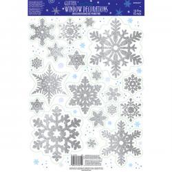 Pegatinas de nieve para la ventana - Imagen 1