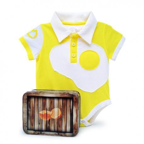 Body huevo frito para bebé - Imagen 1