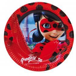 Set de 8 platos Las aventuras de Ladybug 23 cm - Imagen 1