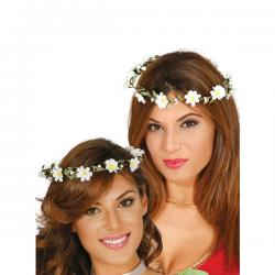 Corona de flores blancas para mujer - Imagen 1