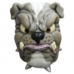 Máscara de bulldog de látex para adulto - Imagen 1