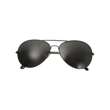 Gafas de aviador negras para adulto - Imagen 1