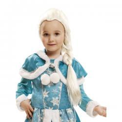 Peluca de princesa del hielo rubia platino para niña - Imagen 1