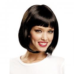 Peluca corta negra de cabaret para mujer - Imagen 1