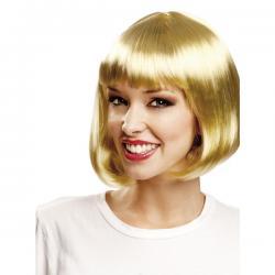 Peluca corta rubia de cabaret para mujer - Imagen 1