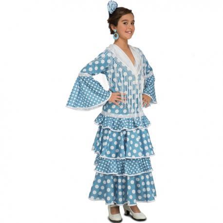 Disfraz de flamenca onubense para niña - Imagen 1