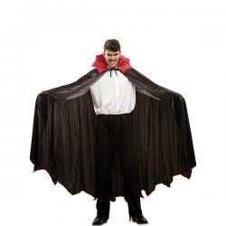 Capa de vampiro con cuello rojo deluxe para adulto - Imagen 1