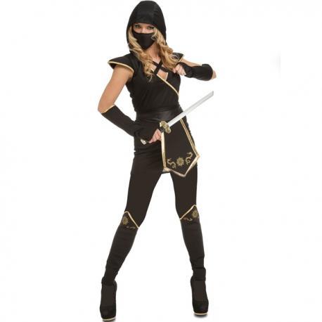 Disfraz de ninja astuto para mujer - Imagen 1