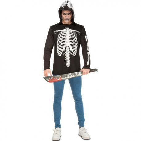 Disfraz de esqueleto casual para hombre - Imagen 1
