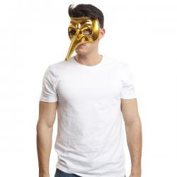 Antifaz veneciano dorado para hombre - Imagen 1