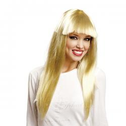 Peluca de estrella del pop rubia para mujer - Imagen 1