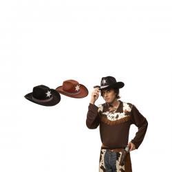 Sombrero de sheriff negro para adulto - Imagen 1