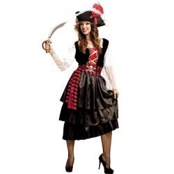 Disfraz de pirata recatada para mujer - Imagen 1