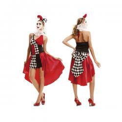 Disfraz de arlequín elegante para mujer - Imagen 1