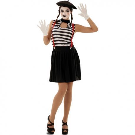Disfraz de mimo expresivo para mujer - Imagen 1