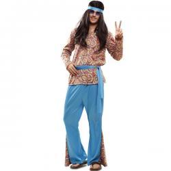 Disfraz de hippie psicodélico para hombre - Imagen 1