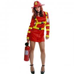 Disfraz de bombero apagafuegos para mujer - Imagen 1