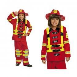 Disfraz de bombero valiente infantil - Imagen 1