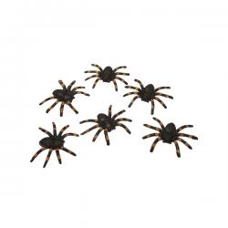 Set de seis arañas brillantes - Imagen 1