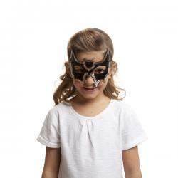 Antifaz de murciélago de lentejuelas para niña - Imagen 1