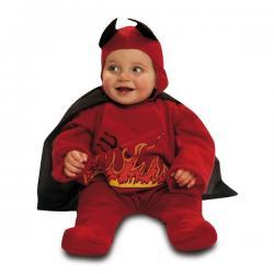 Disfraz de diablito en llamas para bebé - Imagen 1