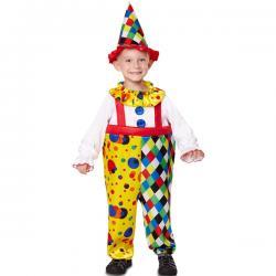 Disfraz de payaso colorido para niño - Imagen 1