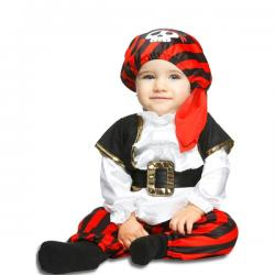 Disfraz de pirata a rayas para bebé - Imagen 1