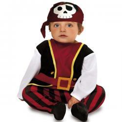 Disfraz de pirata calavera para bebé - Imagen 1