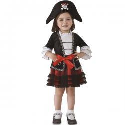 Disfraz de piratita coqueta para niña - Imagen 1