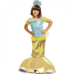 Disfraz de sirenita amarilla de los mares para niña - Imagen 1