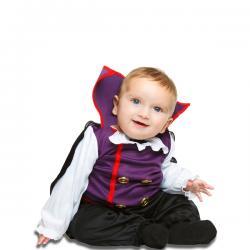 Disfraz de vampiro morado para bebé - Imagen 1