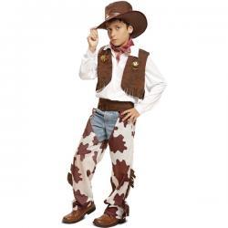 Disfraz de vaquero piel de vaca para niño - Imagen 1
