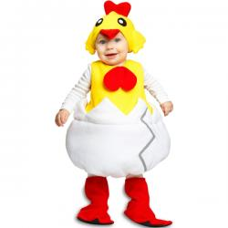 Disfraz de pollito saliendo del cascarón infantil - Imagen 1