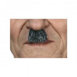 Bigote de dictador alemán canoso para hombre - Imagen 1
