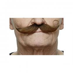 Bigote francés castaño elegante para hombre - Imagen 1