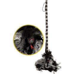 Escoba de bruja espeluznante con luz para adulto - Imagen 1