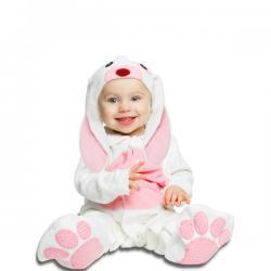 Disfraz de conejo rosa orejón para bebé - Imagen 1