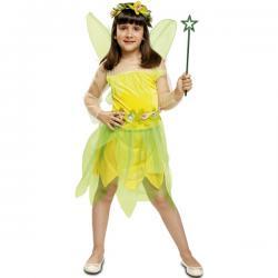 Disfraz de hada del bosque amarilla para niña - Imagen 1