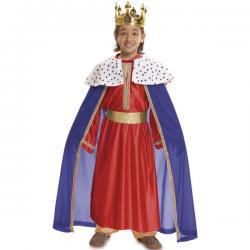 Disfraz de Rey Mago rojo para niño - Imagen 1