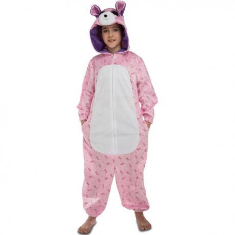 Disfraz de osito rosa de peluche para niña - Imagen 1
