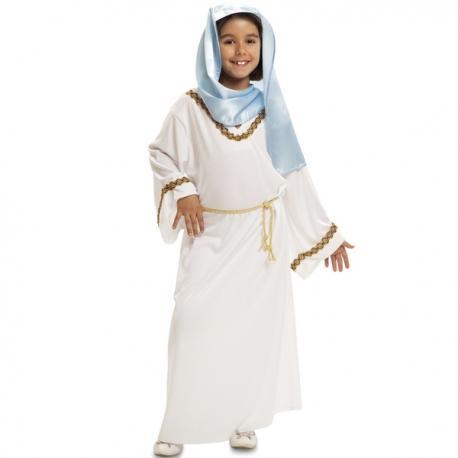 Disfraz de Virgen Maria de Belén para niña - Imagen 1